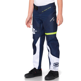 100% R-Core DH Pantalon Adolescents, dark blue/yellow